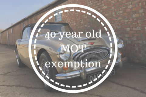 A guide to the new 40 year old MOT exemption